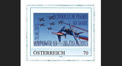 """PAF13-9N : 2013 - 1 TPP AUTRICHE """"AIRPOWER - 60 ans Patrouille de France / ALPHAJET"""""""