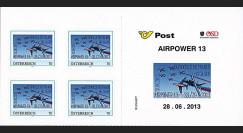 """PAF13-9C : 2013 - Carnet 4 TPP AUTRICHE """"AIRPOWER - 60 ans Patrouille de France / ALPHAJET"""""""