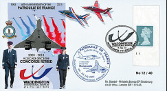 "PAF13-10T6 : 2013 - FDC ROYAUME-UNI ""RAF Waddington - 10 ans Retrait Avion CONCORDE"""