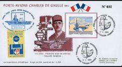 """PADG03T3 : 2003 - FDC """"1er Jour du timbre-poste porte-avions de Gaulle"""""""