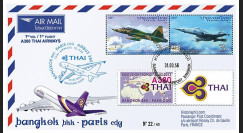 "A380-218T1 : 2013 - FFC THAÏLANDE ""Airbus A380 Thai Airways - 1er Vol Bangkok-Paris"""