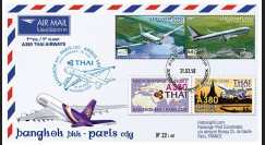 "A380-218T3 : 2013 - FFC THAÏLANDE ""Airbus A380 Thai Airways - 1er Vol Bangkok-Paris"""