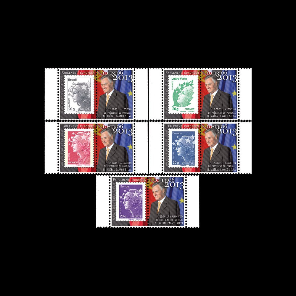 "PE642-PT1/5 : 2013 - 5 Marianne sur porte-timbre ""M. Cavaco Silva"
