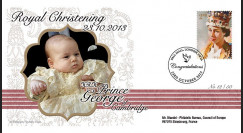 "CHRIST13-1 : 2013 - FDC ROYAUME-UNI ""Baptême royal Prince George de Cambridge"""