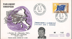 """AP38-T1 : 1963 - FDC Session du PE """"Hommage solennel au Président JF Kennedy USA"""""""