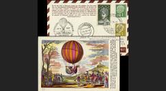 B5 type1 : 1957 - 17e courrier par Ballon de la Sarre - Wien 1957