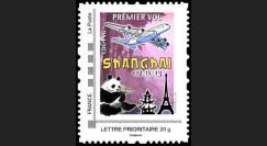 "A380-224N : 2013 - Timbre perso FRANCE ""A380 AF - 1er Vol Paris-Shanghai"" / Lettre prio"