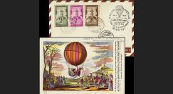 B5 type2 : 1957 - 17e courrier par Ballon de la Sarre - Wien 1957