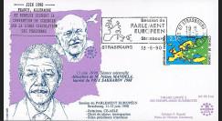 """PE214T1 : 06-1990- FDC Parlement européen """"Visite Nelson MANDELA"""