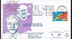"""PE214T2 : 06-1990- FDC Parlement européen """"Visite Nelson MANDELA"""