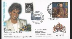 PE348SP1-T1 : 1997 - FDC Royaume-Uni 'Funérailles de Lady Diana'