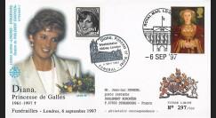 PE348SP1-T3 : 1997 - FDC Royaume-Uni 'Funérailles de Lady Diana'