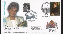 PE348SP1-T5 : 1997 - FDC Royaume-Uni 'Funérailles de Lady Diana'