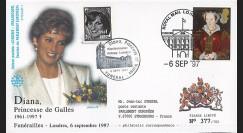 PE348SP1-T6 : 1997 - FDC Royaume-Uni 'Funérailles de Lady Diana'