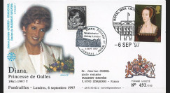 PE348SP1-T7 : 1997 - FDC Royaume-Uni 'Funérailles de Lady Diana'