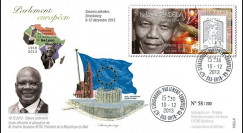 "PE654 : 12-2013 - FDC Parlement européen ""Hommage Nelson MANDELA"