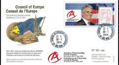 """CE65-I : 01-2014 - FDC Conseil Europe """"Présidence autrichienne - Chancelier W. Faymann"""""""