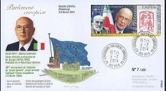 """PE656 : 02-2014 - FDC Parlement européen """"Visite M. Giorgio NAPOLITANO"""
