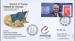 "CE64-IIIA : 06-2013 - FDC Conseil de l'Europe ""Présidence de l'Arménie - NALBANDIAN"""