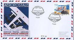 """LATE13-1 : 2013 - FDC """"AEROPOSTALE - Hydravion LATECOERE Laté 28 / Europe-Afrique-Amérique"""""""