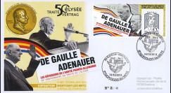 "DG13-9T1 : 2013 - FDC ""DE GAULLE & ADENAUER"