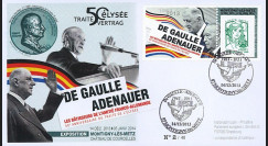 "DG13-9T2 : 2013 - FDC ""DE GAULLE & ADENAUER"