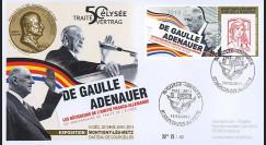 "DG13-9T3 : 2013 - FDC ""DE GAULLE & ADENAUER"