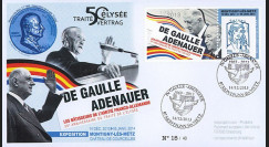 "DG13-9T4 : 2013 - FDC ""DE GAULLE & ADENAUER"