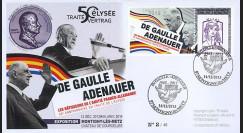"DG13-9T5 : 2013 - FDC ""DE GAULLE & ADENAUER"
