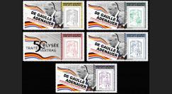 """DG13-9PT1/5 : 2013 - Série 5 Marianne """"DE GAULLE & ADENAUER - 50 ans Traité Elysée"""" (Montigny)"""