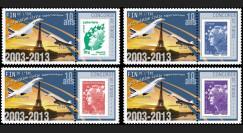 """CO-RET52PT1/4 : 2013 - Série 4 Marianne """"10 ans dernier vol avion Concorde / Tour Eiffel"""""""