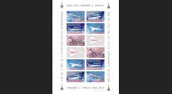 """CO-RET49FND : Feuillet de vignettes """"2003-2013 : de Concorde à l'Airbus A380"""""""