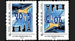 """CO-RET49VN : 2013 - 2 TPP Variété tête-bêche """"10 ans dernier vol Concorde"""" / BLEU"""