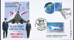 "CO-RET55 : 2013 - ROYAUME-UNI FFC ""10 ans dernier vol avion Concorde / Red Arrows"""