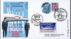 "CO-RET56 : 2013 - ROYAUME-UNI FFC ""10 ans dernier vol avion Concorde / Red Arrows"""