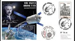 """VA213L-T2 : 2013 - FDC Kourou ARIANE 5 """"Vol 213 - cargo spatial ATV 4 Albert Einstein"""""""