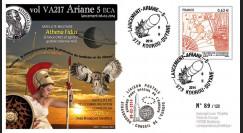 """VA217L-T2 : 2014 - FDC Kourou ARIANE 5 """"Vol 217 - satellites ABS-2 et Athena Fidus"""""""