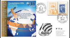 "VS05L : 2013 - FDC Kourou ""SOYOUZ Vol N°04 - 4 satellites de la constellation O3b"""