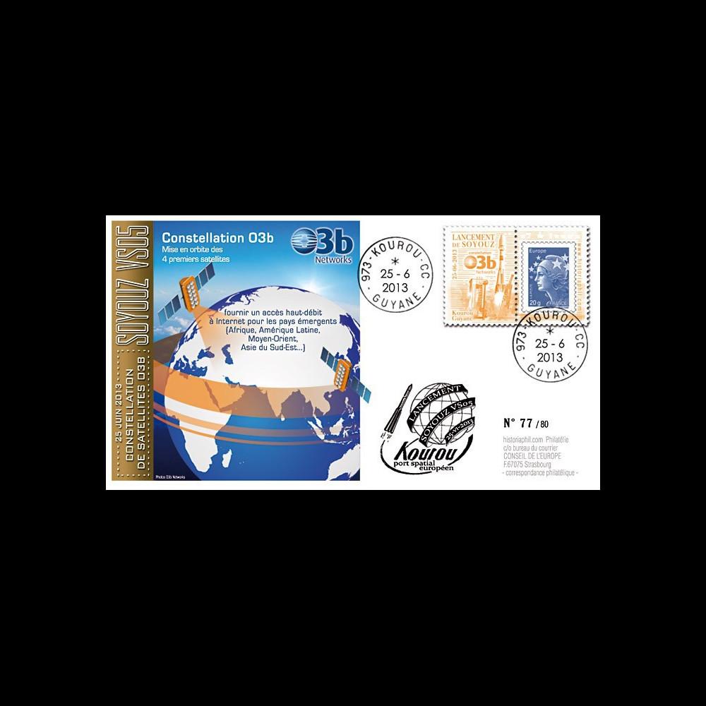 """VS05L : 2013 - FDC Kourou """"SOYOUZ Vol N°04 - 4 satellites de la constellation O3b"""""""