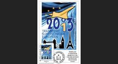 """CO-RET49 : 2013 - Carte """"10 ans dernier vol Concorde AF002/001 Paris-New York-Paris"""""""