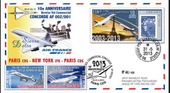 "CO-RET52 : 2013 - FFC ""10 ans dernier vol Concorde AF002/001 Paris-New York-Paris"""