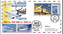 """CO-RET52 : 2013 - FFC """"10 ans dernier vol Concorde AF002/001 Paris-New York-Paris"""""""