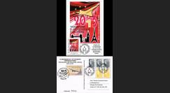 """CO-RET50 : 2013 - Carte """"10 ans dernier vol VIP Concorde AF Paris-New York-Paris"""""""