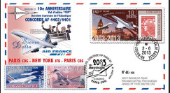 "CO-RET53 : 2013 - FFC ""10 ans dernier vol VIP Concorde AF Paris-New York-Paris"""