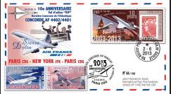 """CO-RET53 : 2013 - FFC """"10 ans dernier vol VIP Concorde AF Paris-New York-Paris"""""""