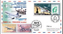 """CO-RET54 : 2013 - FFC """"10 ans dernier vol 'Retour au musée' Concorde AF Paris-Toulouse"""""""