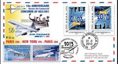 """CO-RET49V : 2013 - FFC """"10 ans dernier vol Concorde Paris-New York-Paris"""" / variété"""