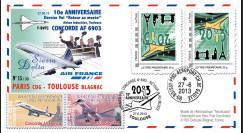 """CO-RET51V : 2013 FFC """"10 ans dernier vol 'Retour musée' Concorde AF Toulouse"""" / variété"""