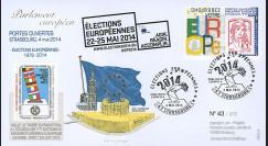"""PE661 : 05-2014 - FDC """"Portes ouvertes au Parlement européen / Élections Européennes"""""""