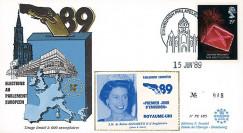 """PE185 : 1989 - FDC Parlement européen """"Élections Européennes / ELISABETH II"""